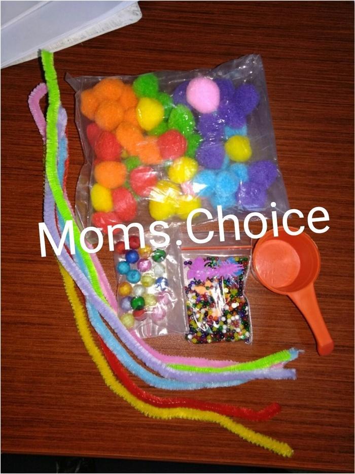 Paket Sensory Toys Montessori Pompom Waterbeads Hidrogel - YCRYGP 0d9c004218