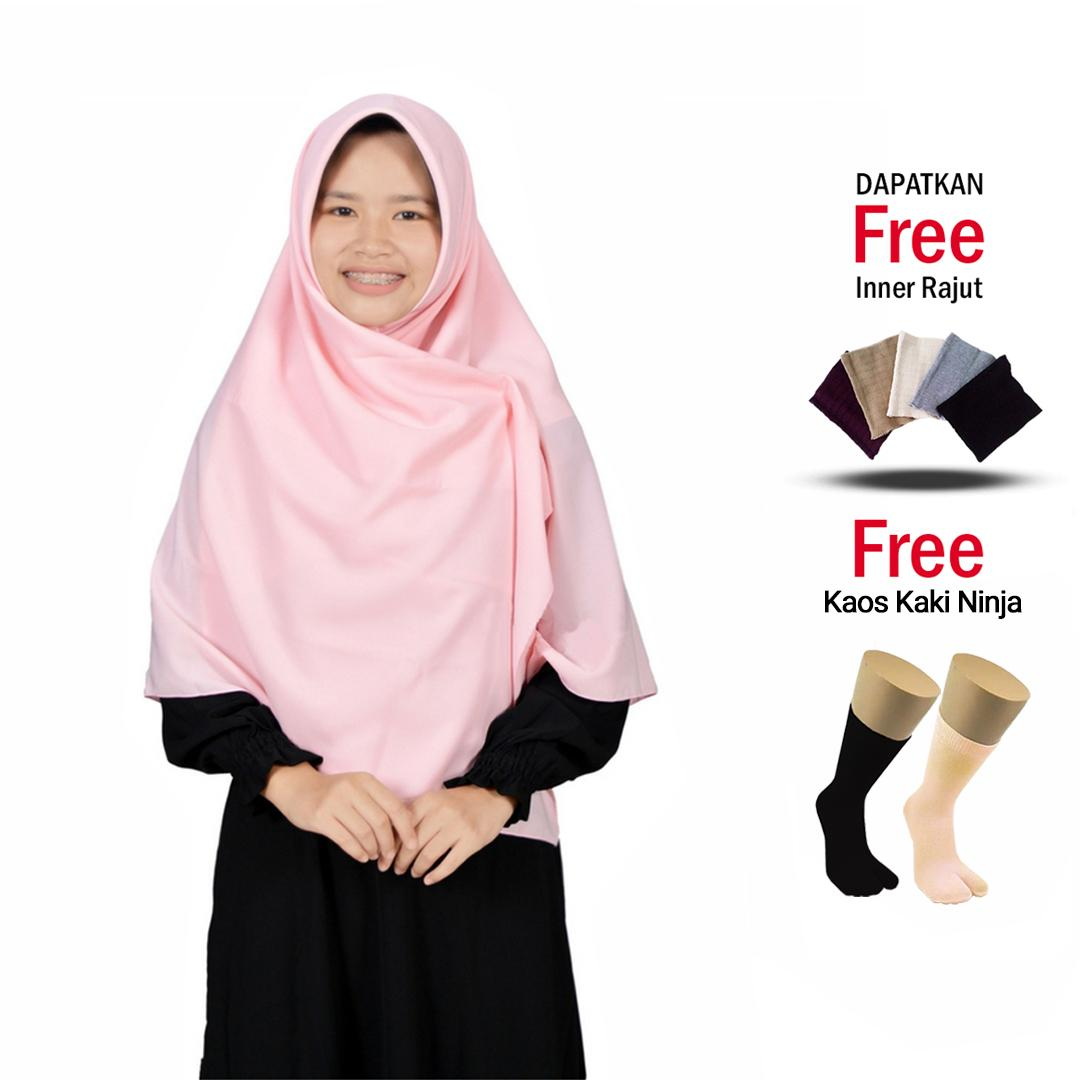 [Jilbab Hijab Syari] Fashion Muslim Hijab Segi Empat Wolfis Syari Jumbo Jilbab Pengajian Premium Square Grade A Free Inner dan Kaos kaki Ninja Bisa Bayar di Tempat .,