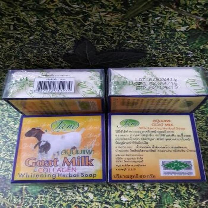 Kidstafun - Sabun Susu Kambing JAM -Goat Milk original thailand azzh - Multicolor