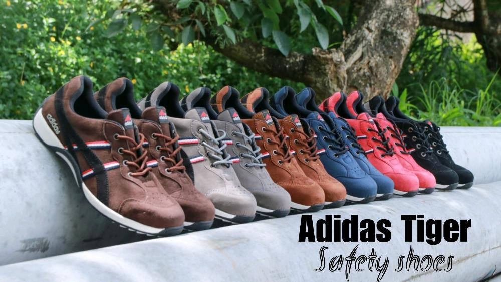 Promo Sepatu Pria adidas Tiger safety shoes low boots ujung besi bagus Like Kickers Slip on nike sneakers pria termurah Kickers kasual Fashion