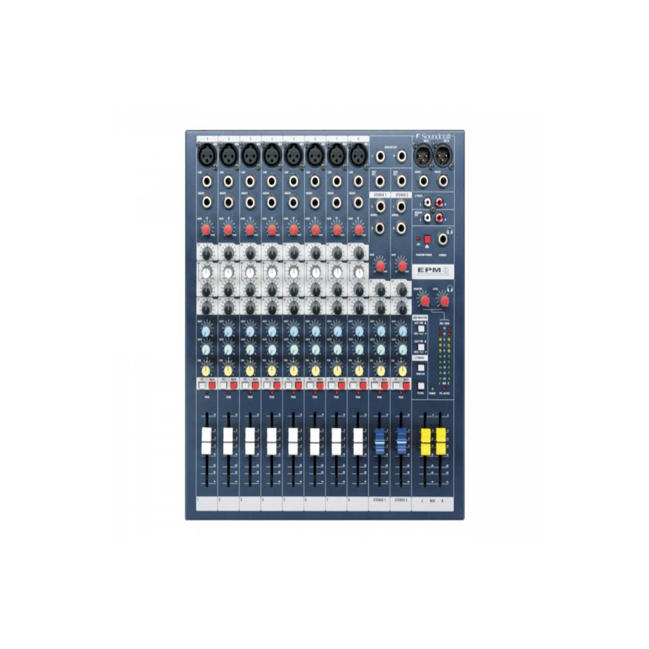 Soundcraft EPM8 - 8 Mono + 2 Stereo Audio Console mixer