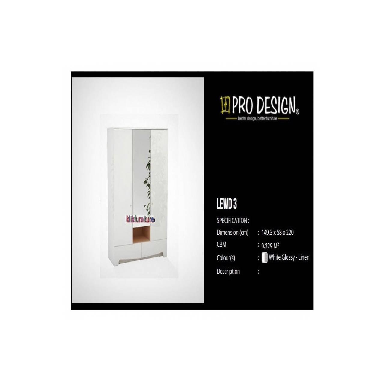 Pro Design Legia Lemari Pakaian 4 Pintu 3 Laci White Glossy Linen Brico Meja Tamu 120 Sanremo Light Black Khusus Jawa