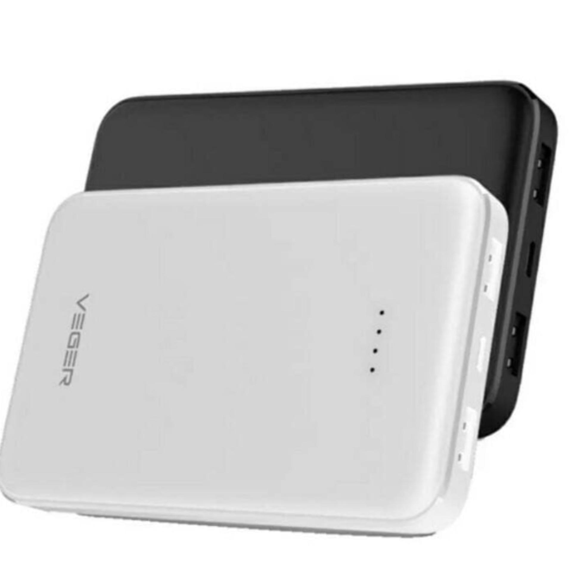 Veger Powerbank V18 22500mah 2output - Hitam