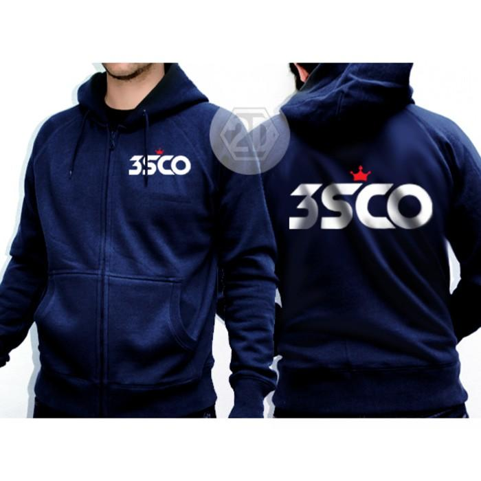 Jaket 3Second Warna Navy / Sweater Hoodie/Jaket Zipper Distro 3Second - Qv9cly