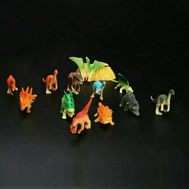 Figure Dinosaurus 1 set isi 8 pcs atau Topper Kue Ulang Tahun Dinosaurus 1 set isi