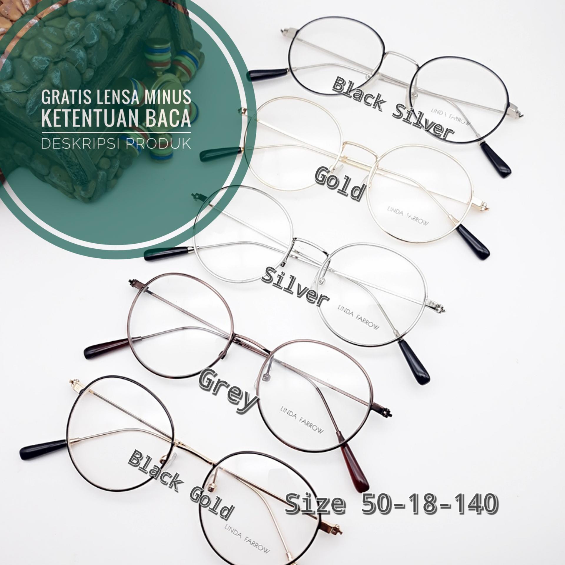Frame Kacamata bulat 3200 kacamata minus / plus /cylinder kacamata anti radiasi