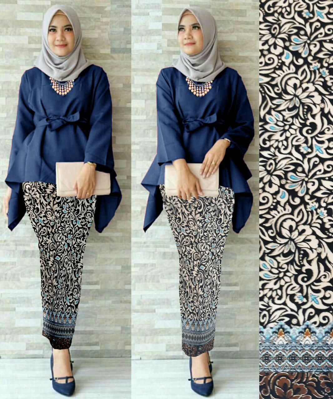 J&C Setelan Kebaya Pitha /  Atasan Wolpeach / Rok Batik Prada / Setelan Kebaya 2 in 1 / Baju Pesta / Kebaya Muslim / Rok Panjang Batik / Rok Batik / Baju Muslim / Hijab Style / Hijab Fashion
