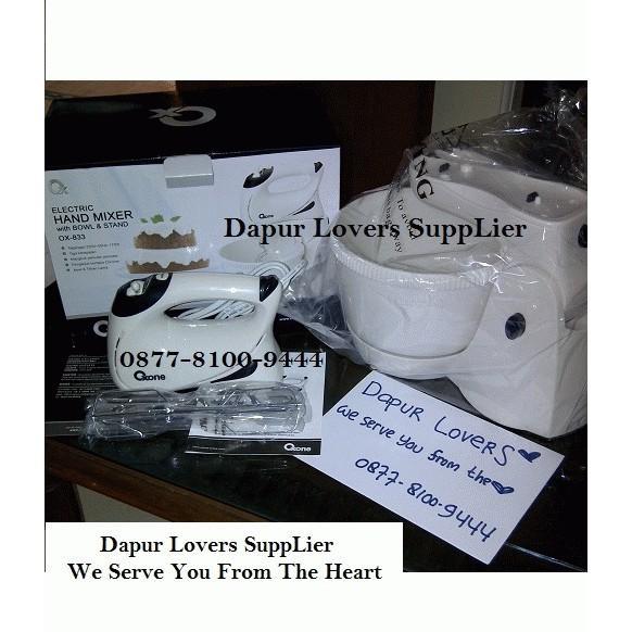 Oxone Hand Mixer & Stand Mixer With Bowl Ox-833- Mixer Aneka Adonan Kue/ Cookies/ Donat Dll - Crgugh