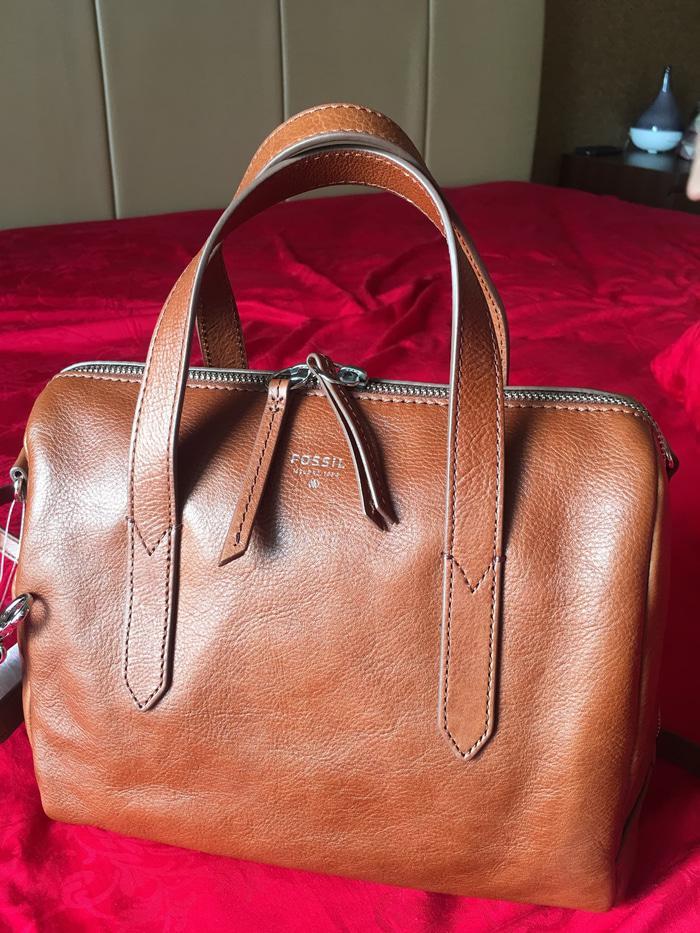 Jual Sale tas Fossil sydney satchel brown dan camel Original - hgHHtX