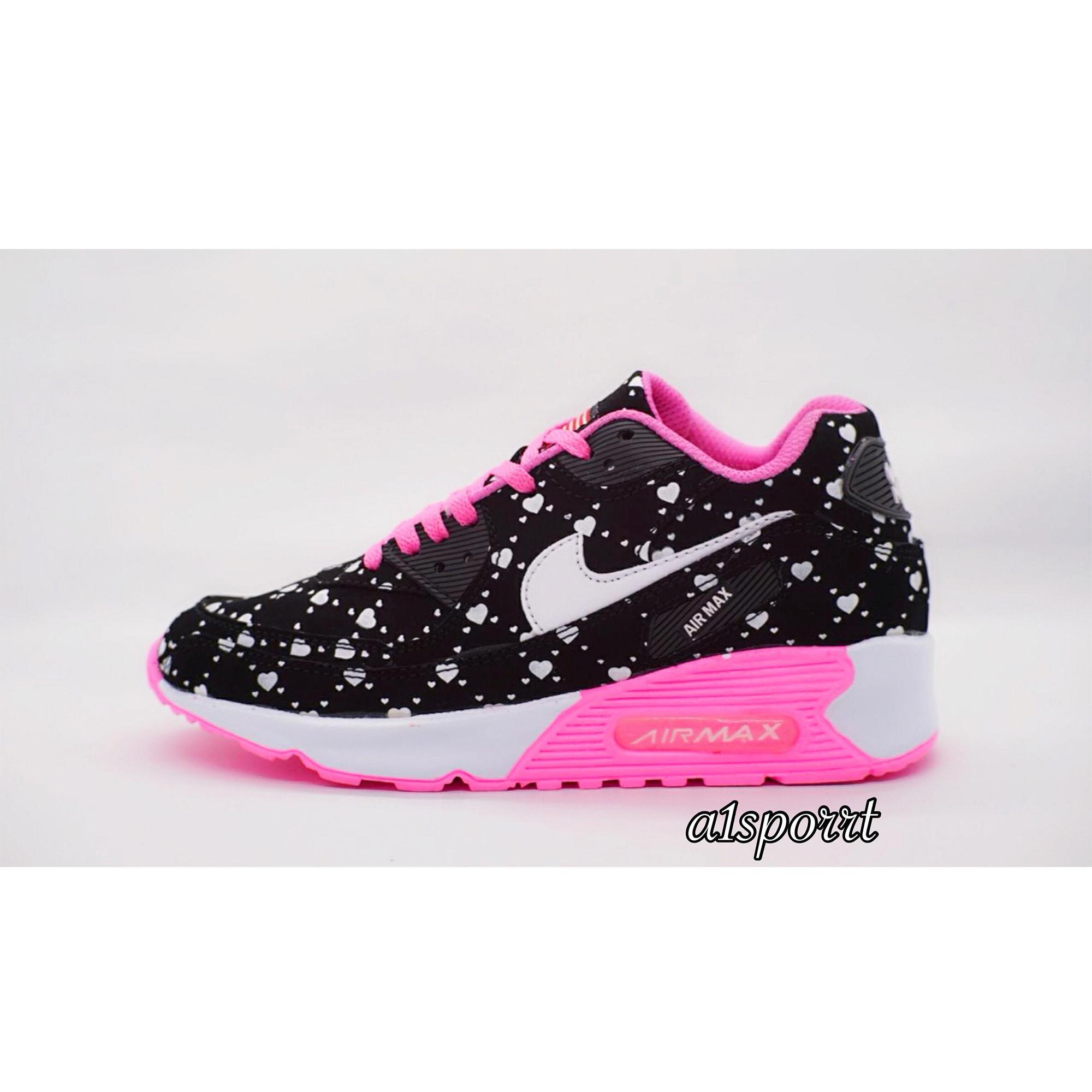 Sepatu Murah Nike Airmax Kualitas Premium Hitam Putih Love Pink