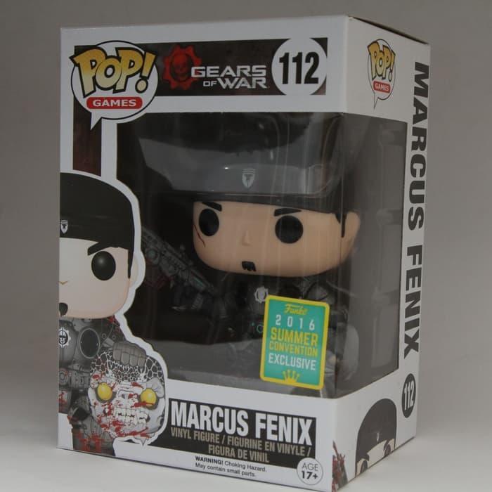 BEST SELLER!!! Funko POP! Games Gears of War - Marcus Fenix w/ Head (Black Lancer) - LG9Hos