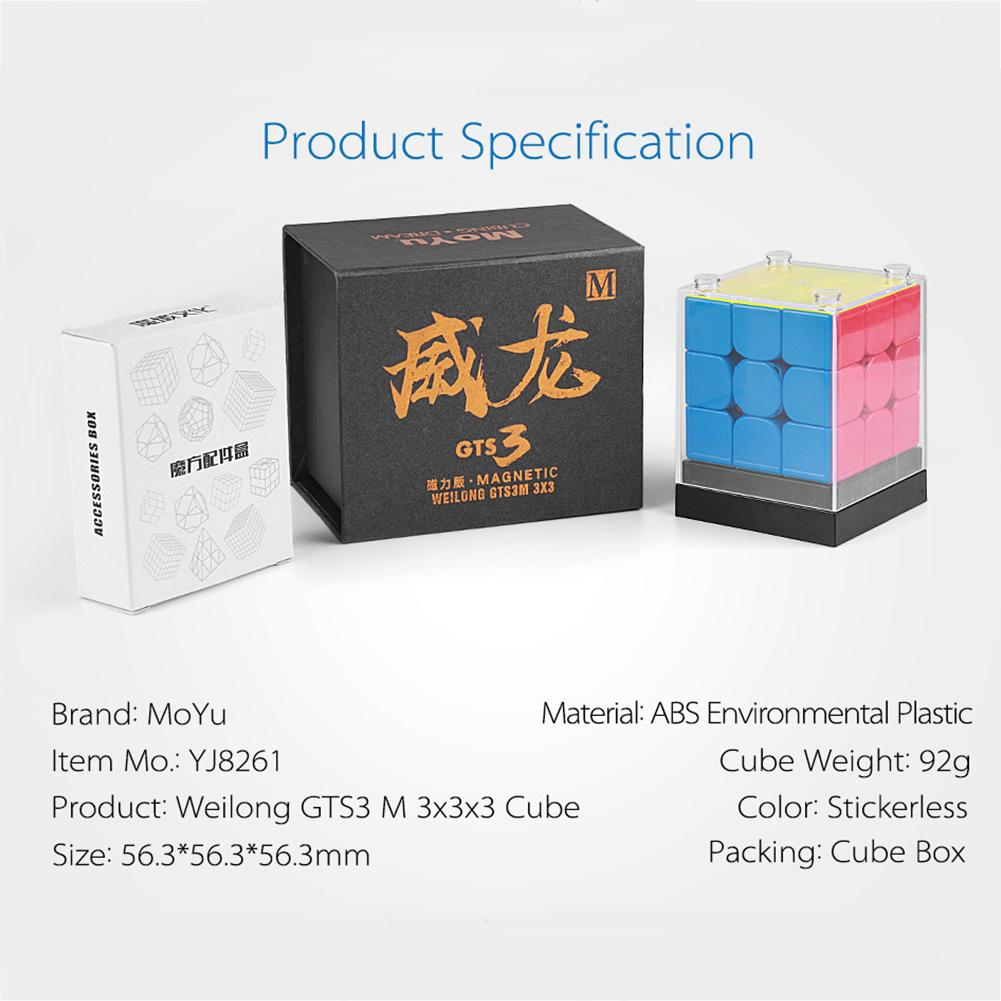 Chesy MoYu Weilong GTS 3M Magnetic Magic Puzzle Cube Twist Puzzle Speed Cube Adult Kids Educational Toy Gift