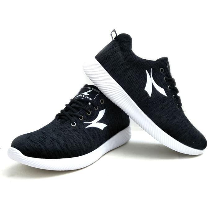 Kualitas Sepatu Pria Sneakers Casual SMA Remaja Dewasa Abu dan Hitam