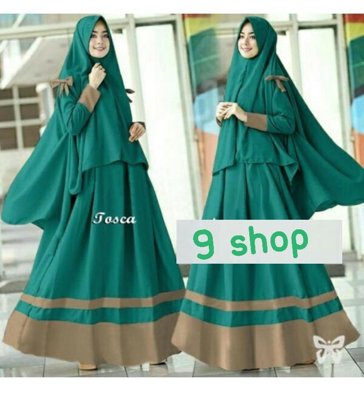 9 Shop Gamis Syari Set 2 in 1 SAYRA Baju Muslim Wanita Syar'i  Gaun Muslimah  Maxi Dress Lengan Panjang  Hijab Muslimah  Baju Muslim  Gamis Murah  Gamsis Modern  Gamis Simple  Gamis Remaja  Gaun Muslim