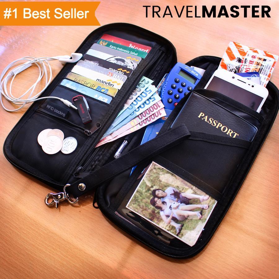VERNYX TravelMaster Dompet Pria Organizer Traveling Passport Lipat Kartu HP DOM900