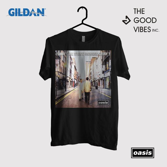 Kaos Band Oasis Original Gildan - Whats The Story Morning Glory Album