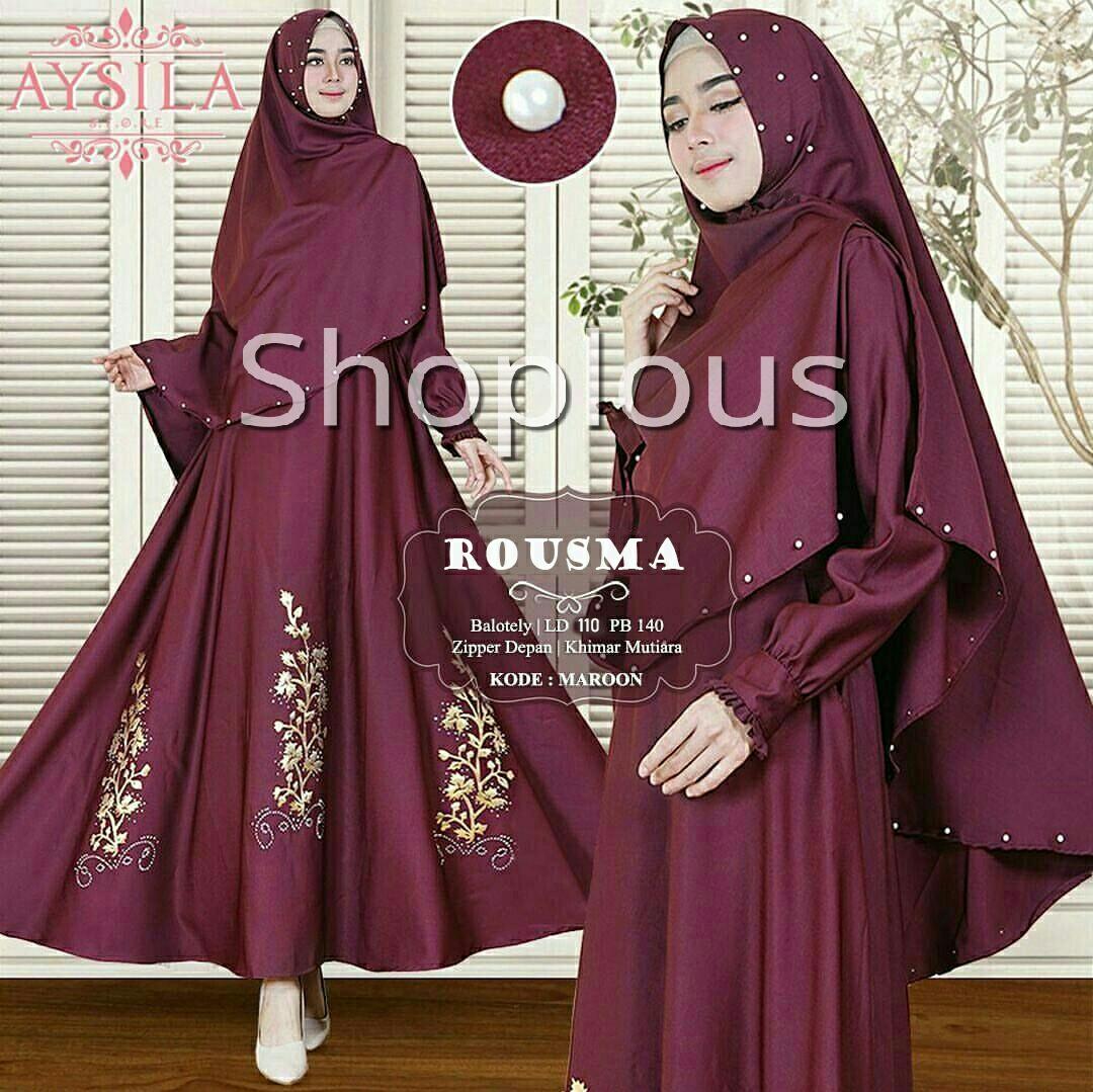 Shoplous Gamis wanita busui/ gamis busui/ Gamis rousma /fashion hijab / baju lebaran/ gamis mekar/ gamis murah/ set gamis / set gamis busui /hijab murah/ dress mulim murah kemeja wanita