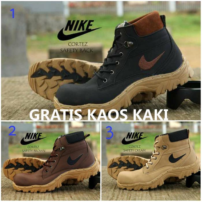 Promo Sepatu tracking boot Safety Nike gunung hiking adventure Diskon