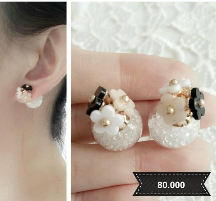 Anting - 3 Flowers Dior Earrings