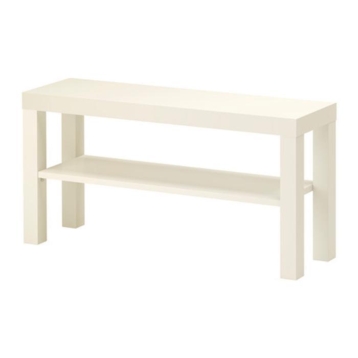 IKEA LACK Meja TV 90x26x45 cm, Putih / Hitam