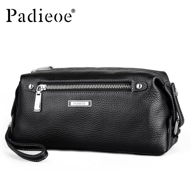 9fed846921a Padieoe Luxury Brand Business Men Purse Genuine Leather Man Handy Bag High  Capacity Long Wallet for