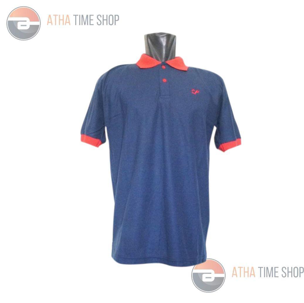 R2G Store Kaos Polo Shirt M L XL Lengan Pendek Baju Pakaian Olah Raga Kaos Kerah Atasan Pria - Biru Dongker