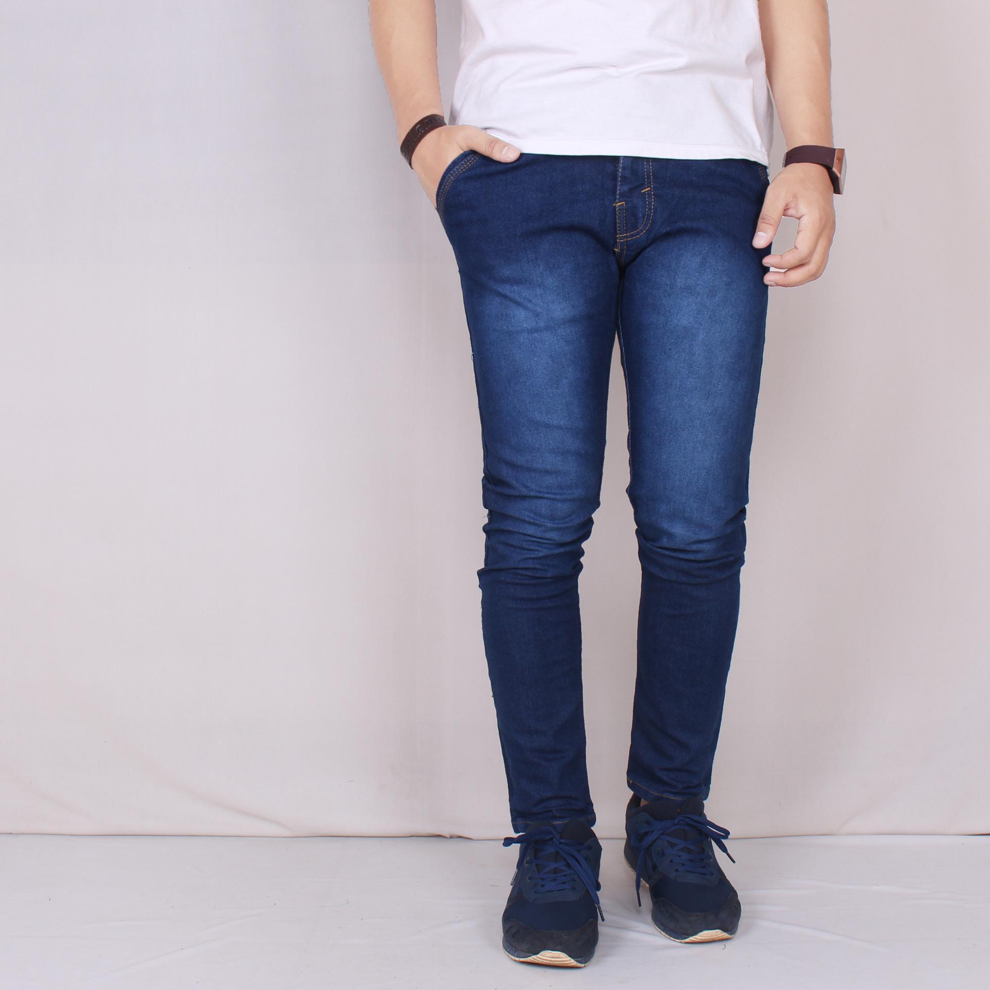 Zoeystore 5602 Celena Jeans Panjang Pria Celana Jeans Skinny Cowok Washing Bluesky Celana Jeans Slimfit Denim STRETCH