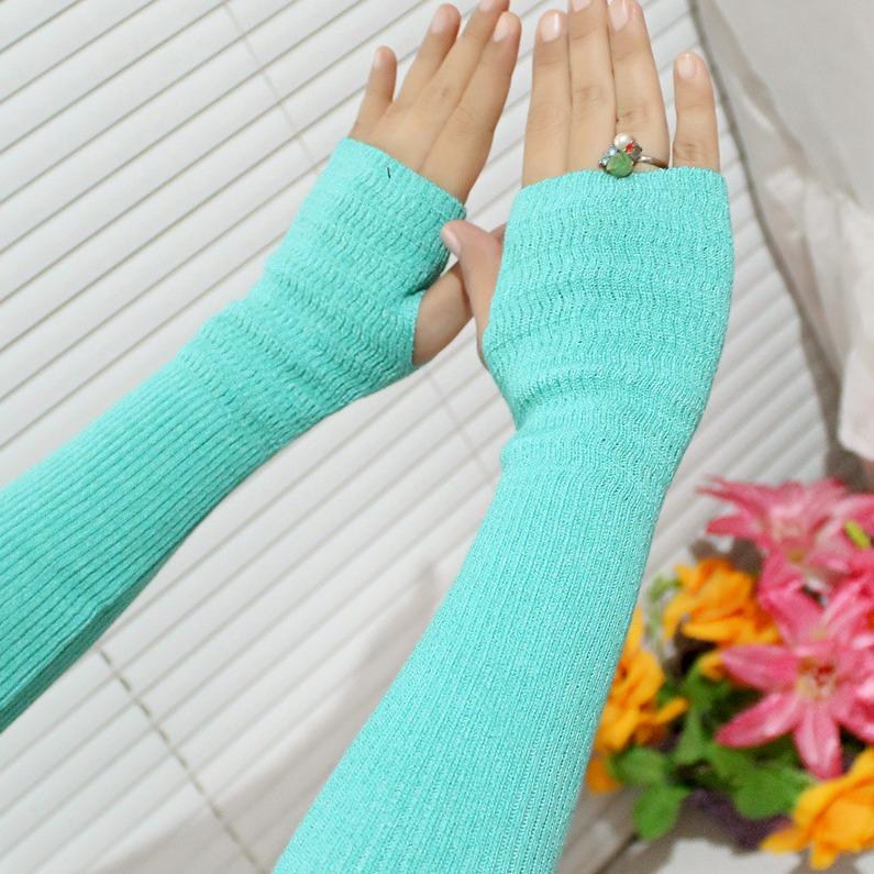 Oleno - Manset Tangan Selengan Simple Anti Matahari Free Size-Multicolor Nafiza - Handsock Rajut