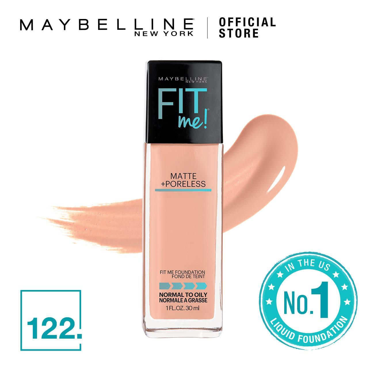 Fit Me Matte Poreless Foundation 122 Creamy Beige