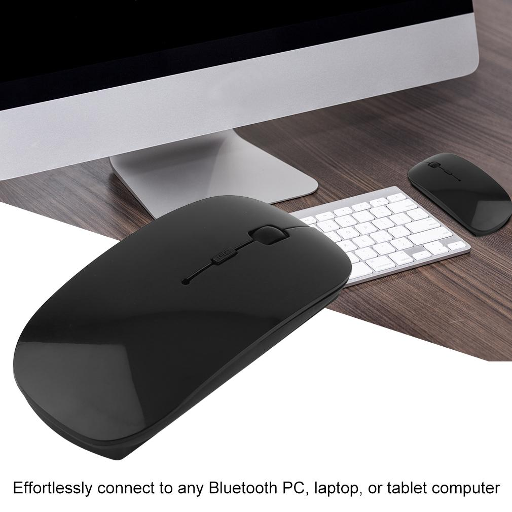 Black & White Universal Portable Rechargeable Bluetooth 3.0 Gaming Wireless Mouse For Laptop PC Tablets Computer