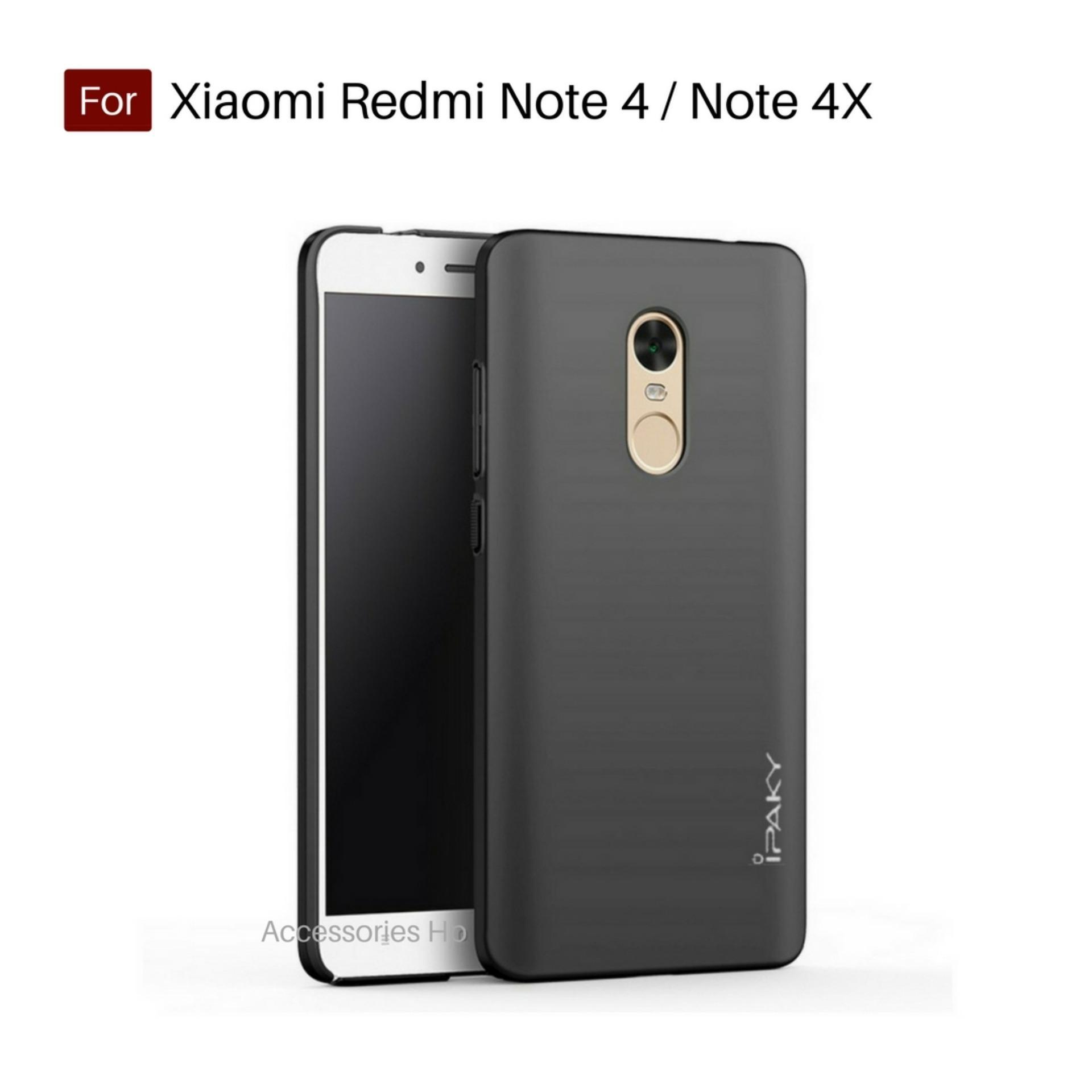Accessories Hp iPaky Super Slim Matte Anti Fingerprint Hybrid Case For Xiaomi Redmi Note 4 / Note 4X Versi Mediatek 5.5 inch - Black