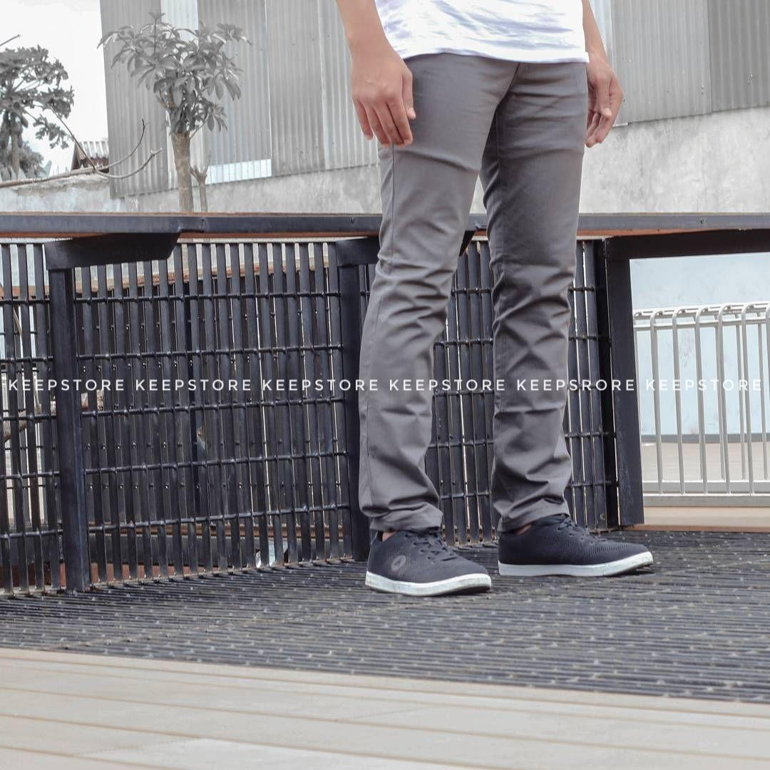 KS Celana chino pria / chino panjang / cino - Navy - Mocca - Cream - Black - Grey