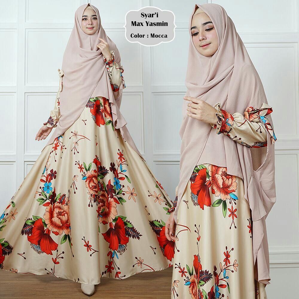 Afifahstore Gamis Syari Muslim Wanita Busui Dress Muslimah Maxmara Motif Lux Gamis Yasmin