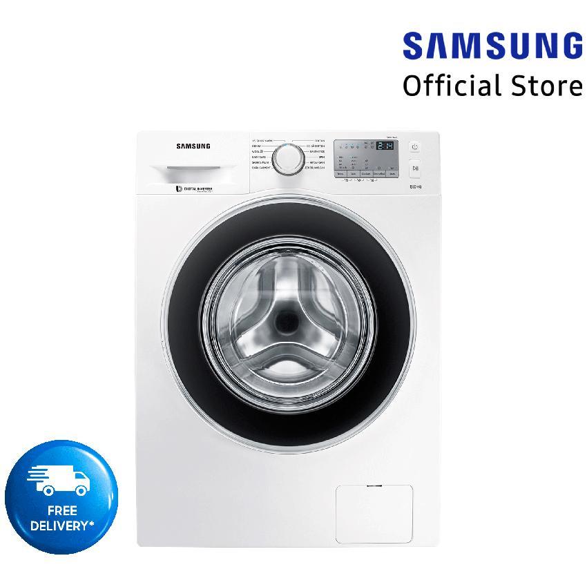 Samsung Mesin Cuci Front Loading dengan Diamond Drum WW80J4233GW/SE - Kapasitas 8 KG Gratis Pengiriman JABODETABEK dan Bandung