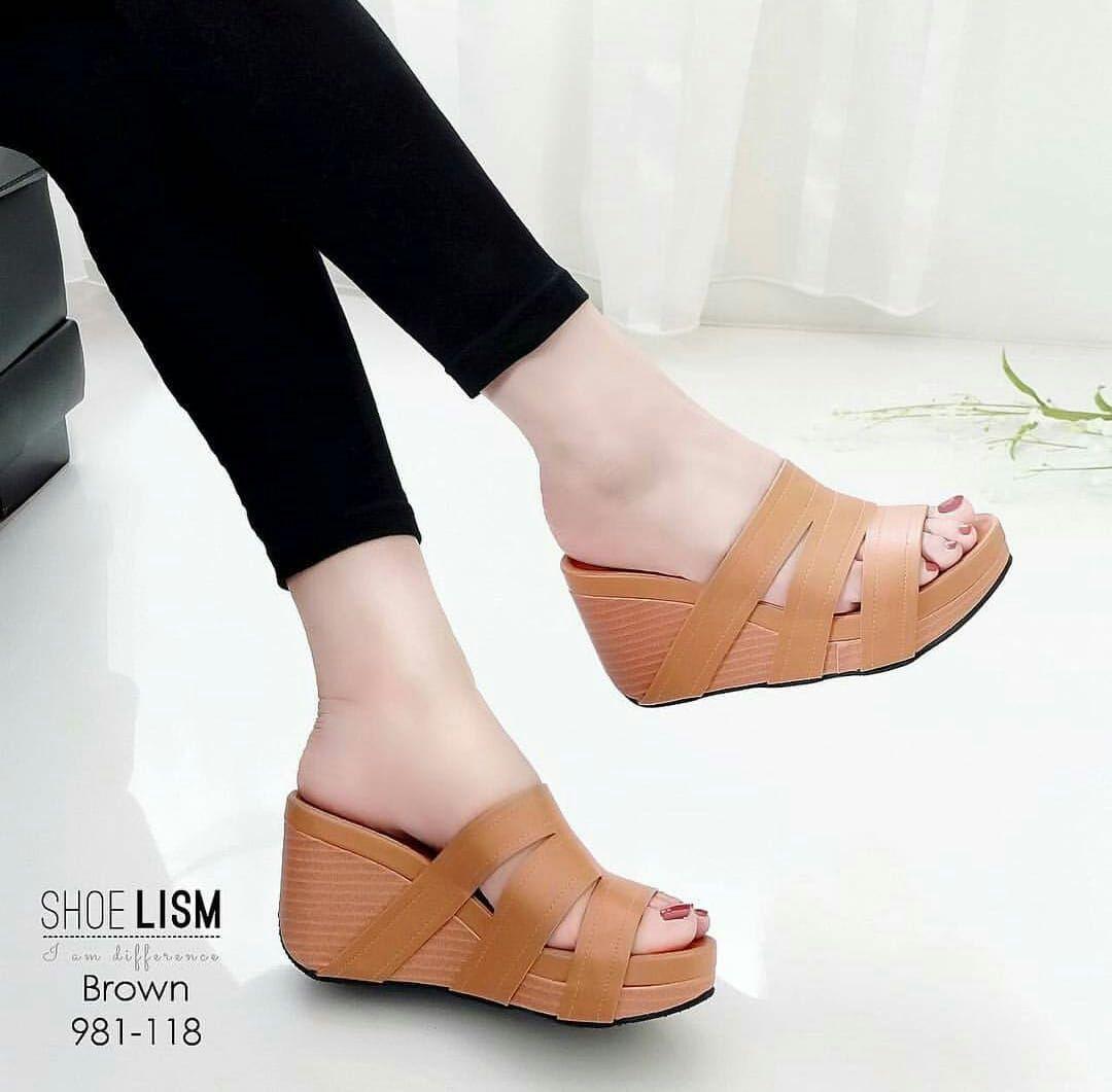 Jual Terlaris Sandal Wedges Murah Garansi Dan Berkualitas Id Store Zr01 Tan Rp 61250