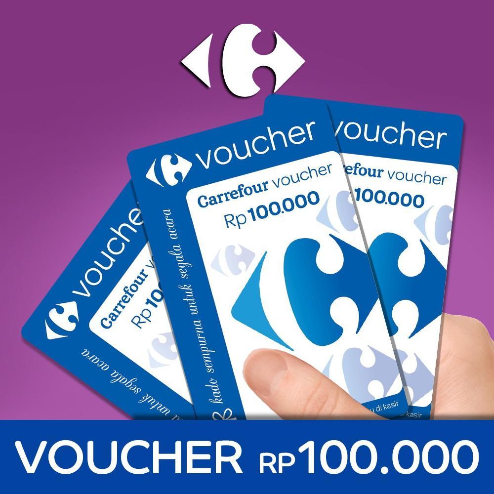Voucher Belanja Carefour 100 Ribu - Isi 10 Biji R5022
