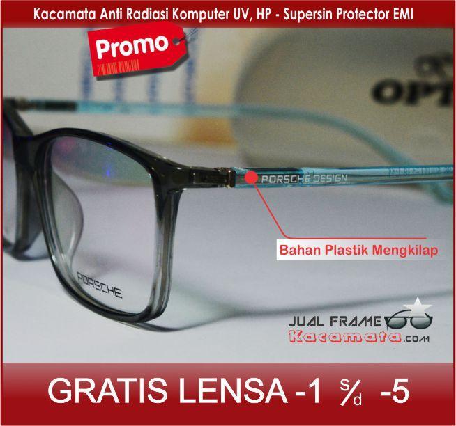 Frame kacamata 1686 + lensa minus/plus/silinder kacamata baca gaya untuk pria dan wanita