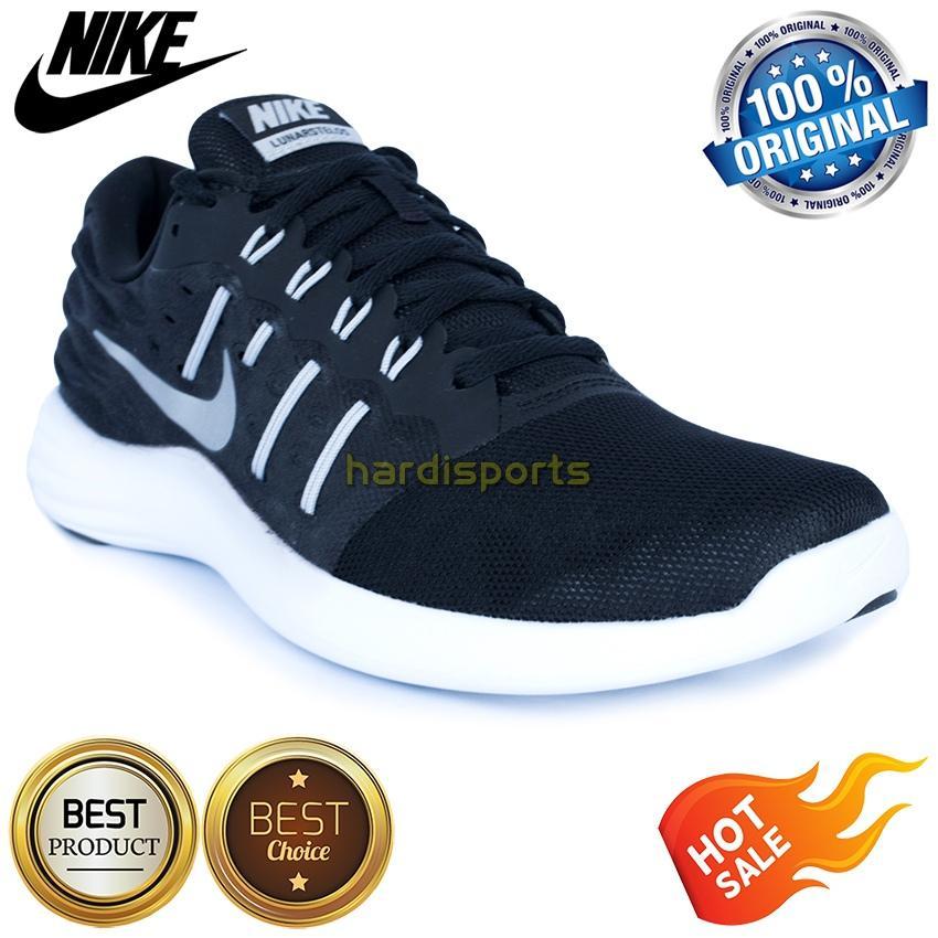 Sepatu Running Pria Nike Lunarstelos 844591-001 - Black