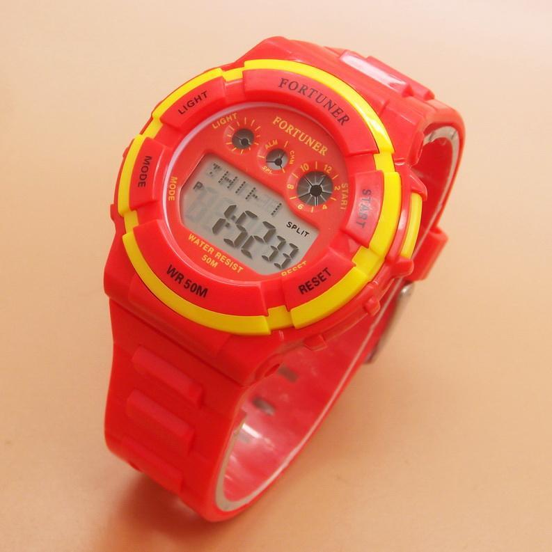 Fortuner - FRJA866R - Jam Tangan Wanita Cewek Remaja Tahan Air - Rubber Strap - Red - Merah