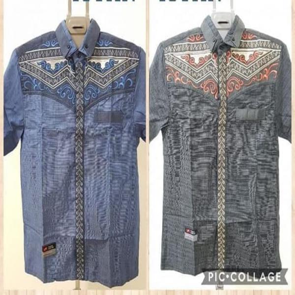 Baju Kemeja Koko Anak Katun Denim Halus Premium 510 thn kode 141