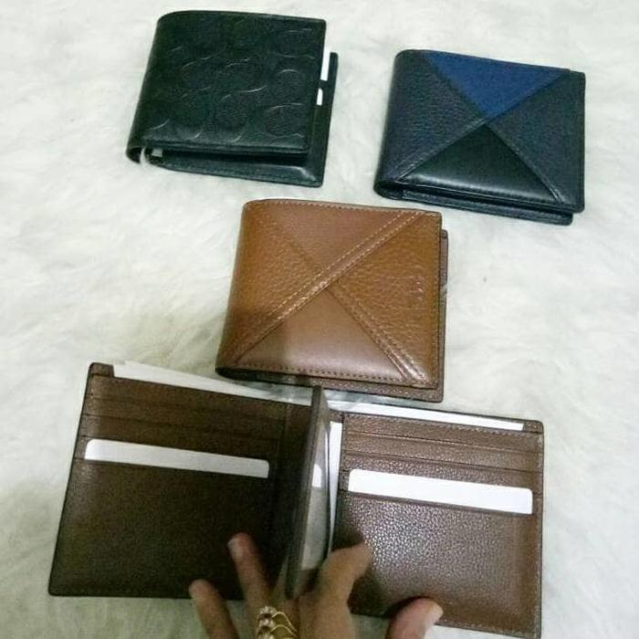 Coach Men Wallet Full Leather. Dompet Pria Coach Original