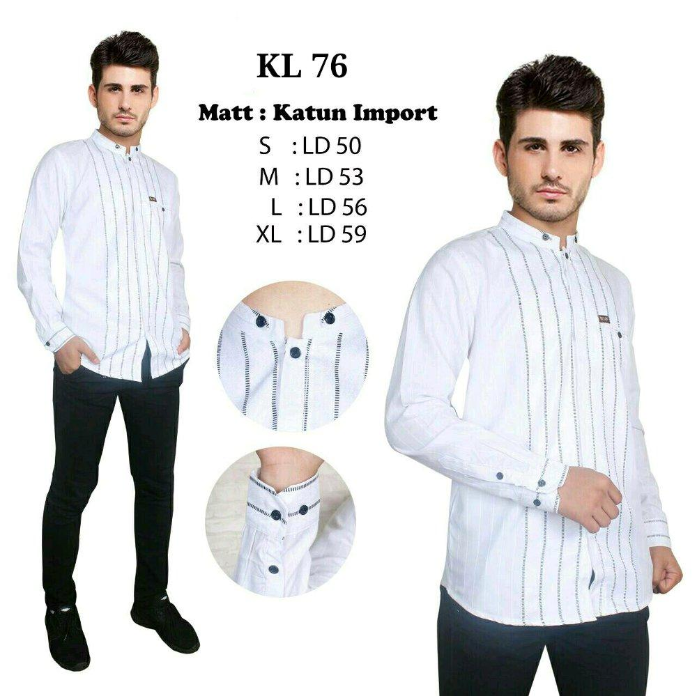 Baju Koko Modern Semi Slimfit KKL01 - Kemeja Muslim - Gamis Pria - Jasko - Pakaian Atasan Muslim Pria Murah - Koko Lengan Panjang di lapak New Trendy newtrendy