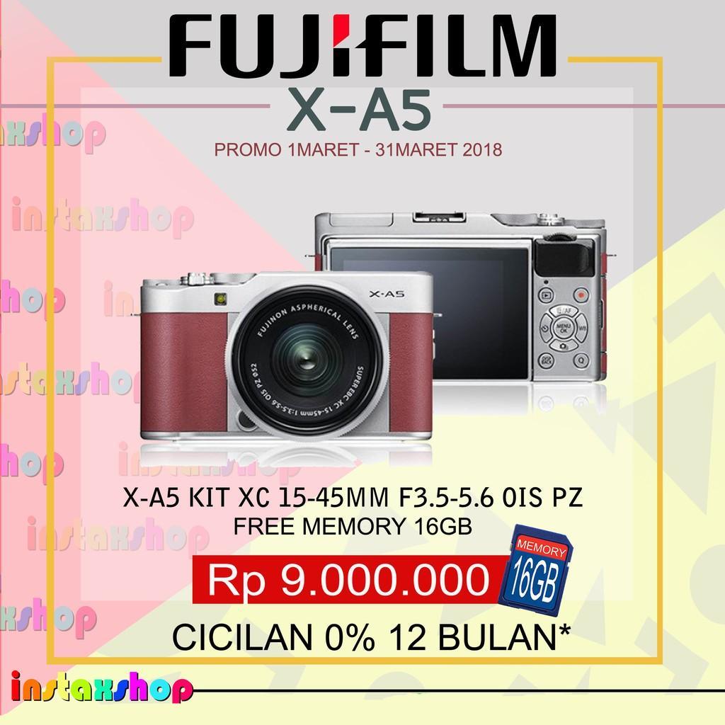 Produk Fujifilm X-A5 XA5 KIT 15-45Mm Kamera Mirrorless (PINK)