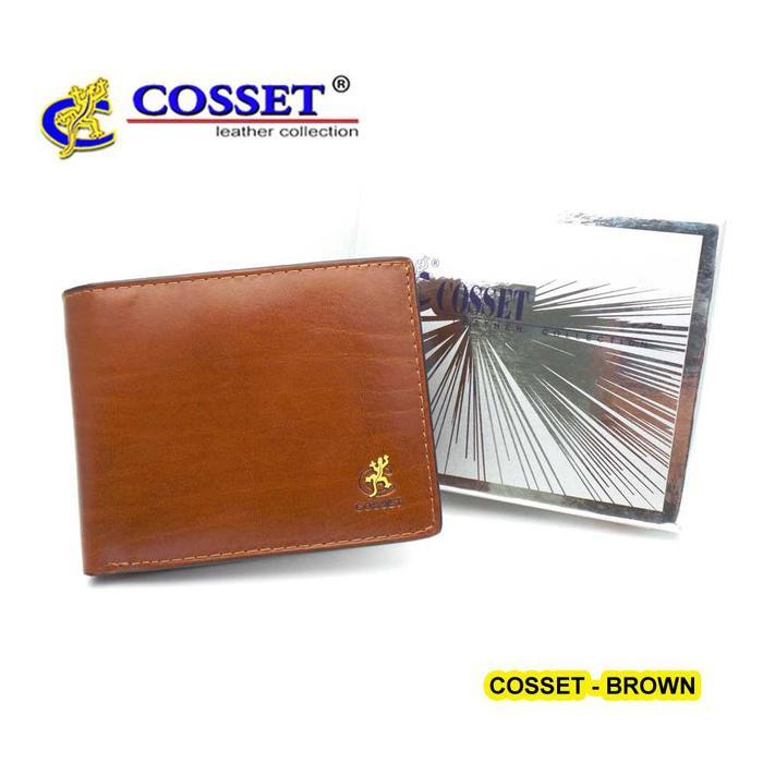 AC020 Dompet Tidur Lipat Pendek Kulit - Cosset UK MUNO Brown
