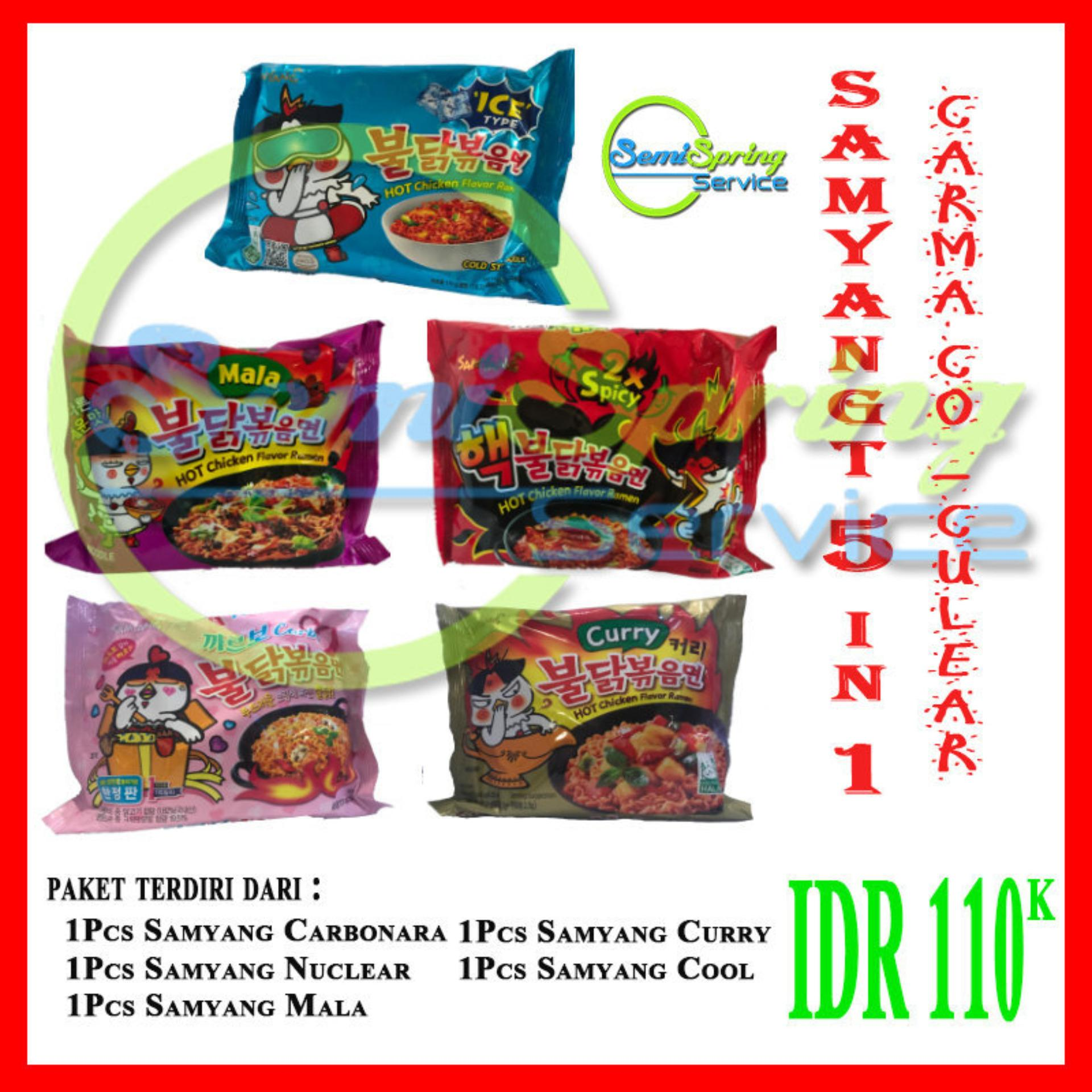 Jual Produk Mie Samyang Terbaru Curry Hot Chicken Logo Halal 5in1 Carma Co Curlear
