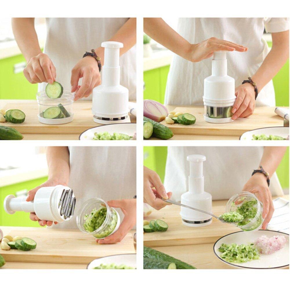 Cek Harga Baru Damura Garlic Mincer Pencacah Bawang Transparan Onion Crusher Penghancur Putih Bumbu Dapur Alat Kitchen Merah P Chopper Pemotong Cabe Set Art Pro