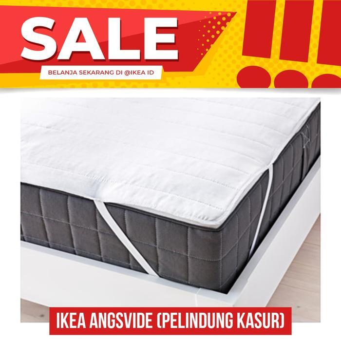 IKEA ANGSVIDE Pelindung kasur 150x200 cm, putih