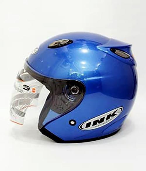 Helm basic ink Centro warna Blue Metallic / Biru Tua