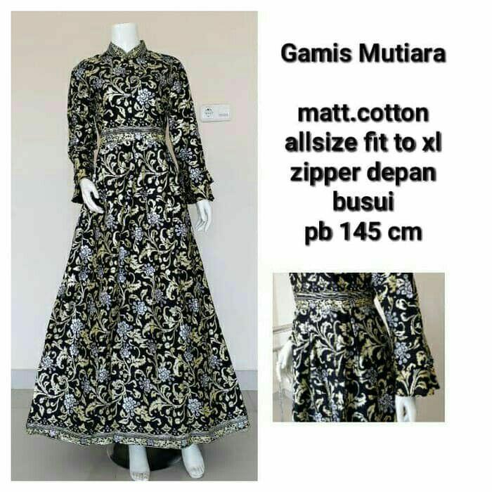 Best Seller - Gamis Batik Prada Exclusive - Gamis Batik Muslimah Termurah