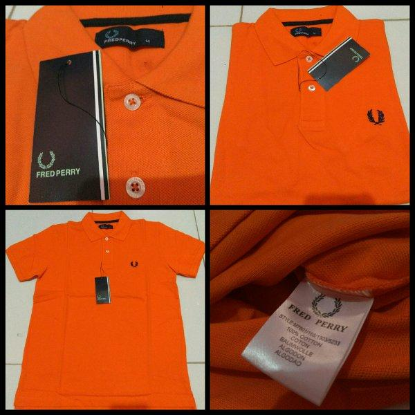 polo shirts  fred perry original Orange